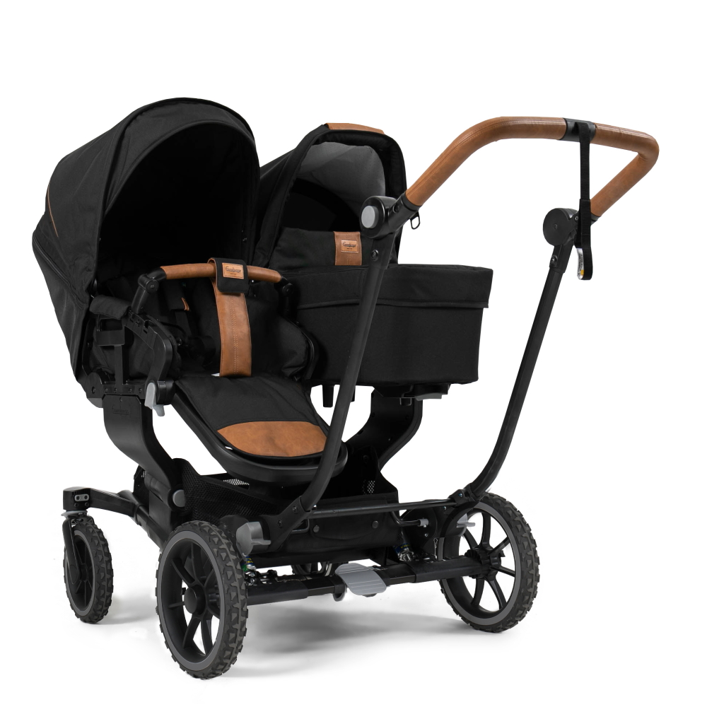 Emmaljunga Stel NXT Twin, Black Outdoor